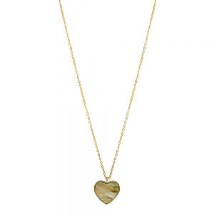 Seabrook Collection - 14K Gold Plated Mother of Pearl Heart Necklace