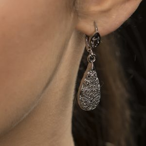 Beltaine Collection- Antique Filigree Drop Earring Silver