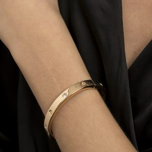 Odette Collection – Classic Crystal Cuff Bracelet Gold