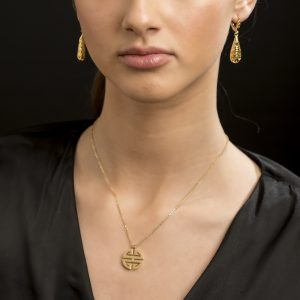 Odette Collection - Milano Medallion Necklace Gold