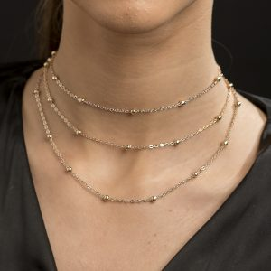 Angelus Collection- Boho Retro Multilayer Mini Moons Gold Choker/Necklace