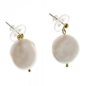 Seabrook Collection - 14K Gold Plated Fresh Water Pearl Earrings