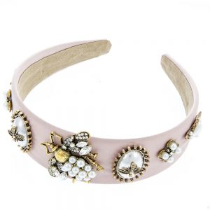 Lyon Hair Accessories – Crystal Bee Hairband Pink