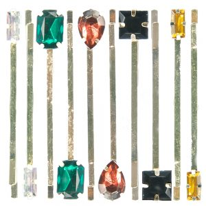 Rhinestone Multi Colour Hair Pins (5 Pairs)