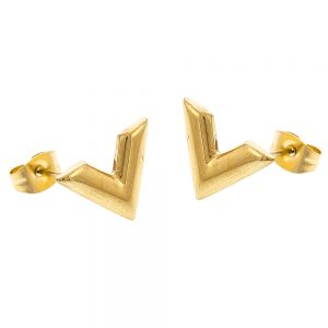 Violetta Stud Earrings Gold