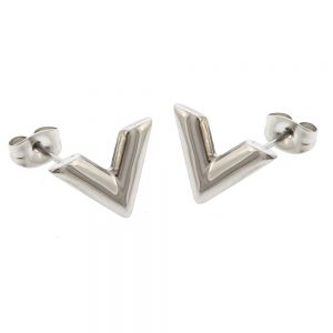 Violetta Stud Earrings Silver