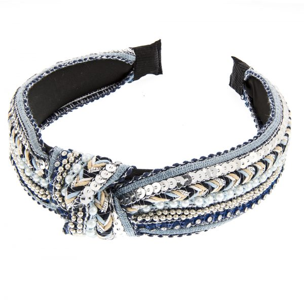 Gypsy Knotted Hair Band Blue