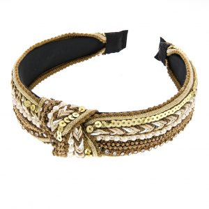 Gypsy Knotted Hair Band Gold