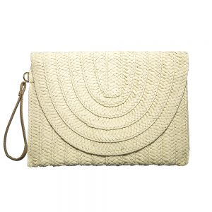 Summer Straw Clutch Bag
