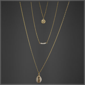 14K Gold Plated Multi Shell:Pearl Coin necklace