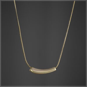 925-Gold Bean Necklace