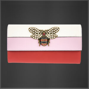 Bumble Bee Pearl Leather Purse