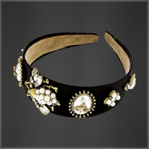 Crystal Bee Headband Black