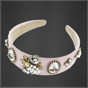 Crystal Bee Headband Pink