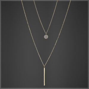 925 Sterling Silver Multilayer Pendant necklace