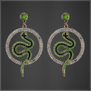 Green with Envy Snake Hoops