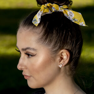 Tropical Scrunchie, Sweet Heart Acrylic earrings and Shooting Star Pendant